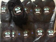 LOT of 10 Dark Horse Yarns Desert Flower #800 Black Mercerized Cotton