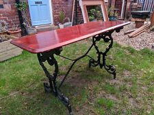 Cast Iron Pub Table/garden Furniture/dining Table/man Cave/ 6 available