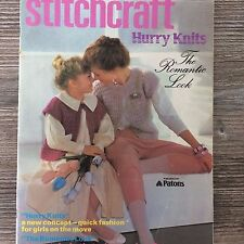Stitchcraft Knitting Pattern Booklet: Hurry Knits, Aug/Sept Year?