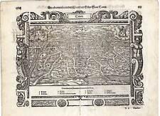 Tours-France-Frankreich Holzschnitt Seb. Münster 1580
