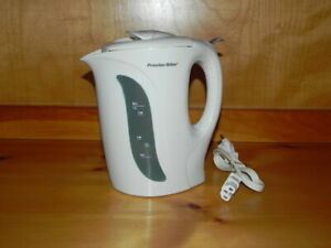 Proctor Silex K2070Y Electric Kettle with Automatic Shutoff, in Off White Color.