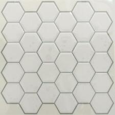 RoomMates TIL3458FLT White Hexagon StickTILES (4 Pack)