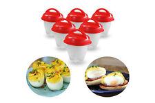 6pz Cuoci uova sode senza guscio in silicone frittata omelette uovo sodo