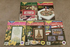 New ListingLot of 5 Just Cross Stitch Magazines 1990's October August June Mother's Day