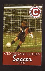 Centenary Ladies--2002 Soccer Pocket Schedule