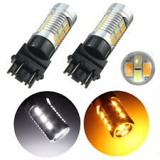 Car 3157 Yellow White LED 5630 Dual Color Switchback Auto Turn Signal Light Bulb