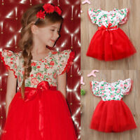 Kids Baby Girl Flower Dress Princess Lace Tulle Tutu Formal Party Dress