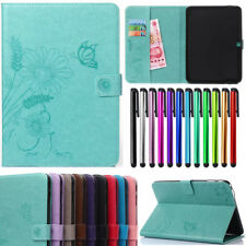 Flip PU Leather Wallet Card Magnetic Case Cover For Samsung Galaxy Tab Tablet