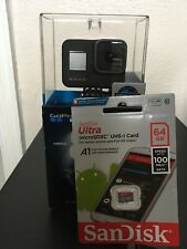 GoPro HERO8 Black - 4K60 Ultra HD HDR HyperSmooth 2.0 LiveSteam Camera + 64gb SD