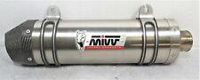 Scarico MIVV per Yamaha Oval Titanio Con coppetta in carbonio-Y018L4C