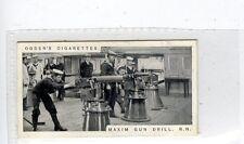 (Jc8513-100)  OGDENS,MODERN WAR WEAPONS,MAXIM GUN DRILL,1915,#11