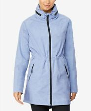 32 Degrees Women's Hooded Water-Resistant Anorak Raincoat Blue XL NWT