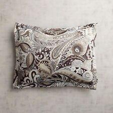 Pier 1 Imports Pillow Sham Gray Vibrant Paisley Green Satin New