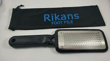 Rikans Foot File and Callus Remover Pedicure Metal With Cloth Pouch