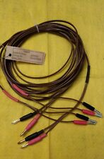 Ls3/5A speaker-Telefunken vintage  cable,     with Deltron and gold plated plugs