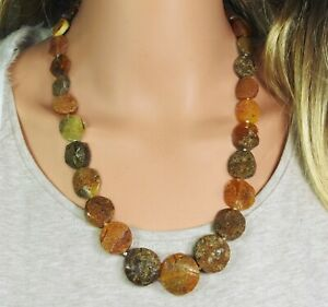 Amber Halskette Coins IN Graduated Size Natural Jewelry Made From Handmade