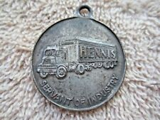 VINTAGE 1950's HENNIS TRUCK / FREIGHT LINES DROP IN MAIL KEYCHAIN TAG FOB