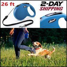 FLEXI Classic Retractable Dog Leash in Blue, 26'