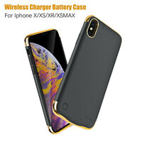 Rechargeable Battery Case For iPhone X/XS XR XSMAX Backup Power Charging Cover