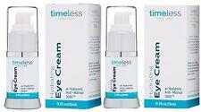 2 x hydrating hyaluronic acid eye cream 0.5 oz x 2=1oz total Timeless Skin Care