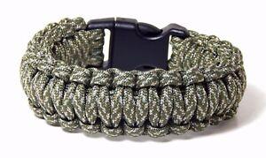Paracord Survival Bracelet ACU 5/8 Plastic Buckle Men Women Hand Made USA 9 Inch