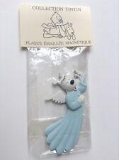 RARE plaque métal peint Pixi Magnet Milou poisson Tintin ETAT NEUF No émaillée