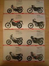 Gesamt-Prospekt Yamaha 83 RD 125 250 350 XJ 650 750 900 SR500 XT500 XT550 XT250