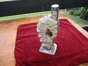 F. D. CHAUVIGNY Lustre Brandy/Cognac  Flask  - Napoleon & Corsica Map