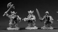Reaper Miniatures Dwarf Warriors (3 Pcs) #03351 Dark Heaven Unpainted Metal