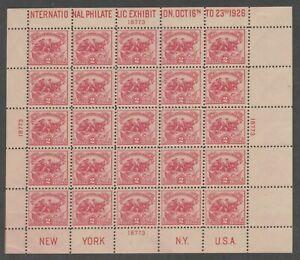 USA 1926 - 2c Battle of the White Plains - Souvenir Sheet of 25 - Rare Item!!