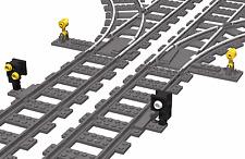 2x Weichensignal für Lego®  Eisenbahn - Zug - Train - 9V - 12V - RC - 4,5V - NEU