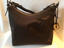 5e0595dd2183 DOONEY   BOURKE Brown Nylon Brown Leather Suede Trim Shoulder hand Bag