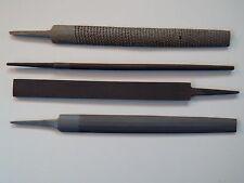 "4 PIECE - 200mm / 8"" FILE SET -  METAL FILE SET for Metal work + WOOD RASP - NEW"