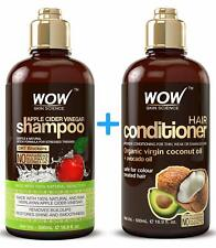 WOW Apple Cider Vinegar Hair Shampoo and Coconut Conditioner Set - Sulfate Free