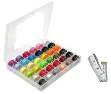 Sewing Thread Embroidery Bobbin Case Kit Brother Singer Machine 36 Color Strech