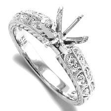 G- VS 2. Diamond Engagement Ring Semi-Mount 18k White Gold #R999