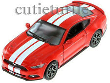 Kinsmart 2015 Ford Mustang GT 5.0 1:38 Diecast Toy Car Red With White Stripes