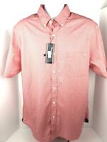 Roundtree & Yorke NWT Mens XL Trim Fit Salmon Color Short Sleeve Button Up Shirt