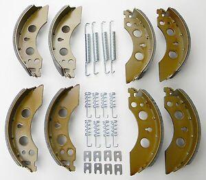 2x Bremsbacken passend für ALKO Radbremse 200x50 mm 2050 2051 1213889, 384294