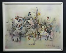 """Expresionist Oil Painting """"New York Philharmonic"""" By Listed NY Artist Shoo Wan"""
