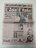 GAZZETTA DELLO SPORT 13 02 1997 INGHILTERRA-ITALIA ZOLA MORTE FEDERICO PISANI