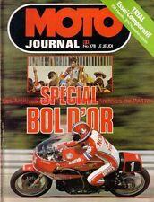 MOTO JOURNAL  378 BOL d'OR 1978 HONDA 1000 RCB YAMAHA TY HONDA TL SUZUKI GS 850