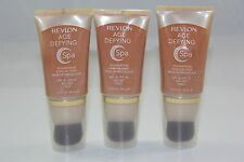 (3 PACK) Revlon Age Defying Spa Foundation - 008 Deep, 1 Ounce