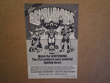 1986 CENTURIONS RARE TV CARTOON SHOW AD PRINT,jake rockwell,ace mccloud,max ray