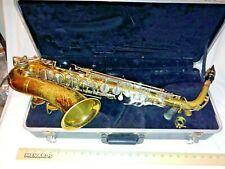 Vintage The Martin Indiana Alto Saxophone w/ Case Elkhart 2nd Series Piece WOW