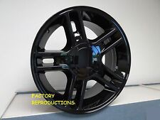 "4) 22"" Ford Harley Gloss Black Style Wheels Rims Set Fits 1997 - 2004 5 lug F150"