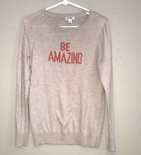 Old Navy Tan Be Amazing Sweater Small