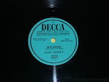 "DON CHERRY Wonder/ My Mother's Pearls 10"" 78 vinyl PROMO Decca 28153 vg+"