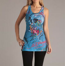 Ed Hardy Ladies Attractive Skull Print Tunic in Size L