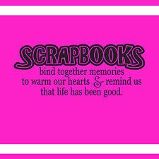 SCRAPBOOKS BIND TOGETHER MEMORIES DECAL WALL VINYL DECOR STICKER